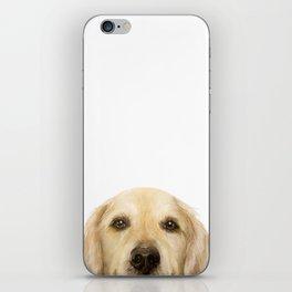 Golden retriever Dog illustration original painting print iPhone Skin