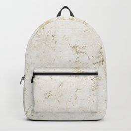 White & Gold Marble Backpack