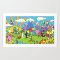Cuckoo fields forever Art Print