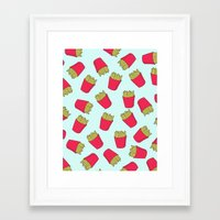 fries Framed Art Prints featuring Fries by weheartstore