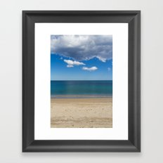 Stripes of blue Framed Art Print