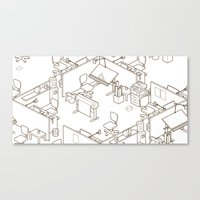 office Canvas Prints featuring office by anil yanik