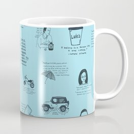 Gilmore Girls Quotes in Blue Coffee Mug