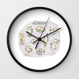 Cat Activities Wall Clock