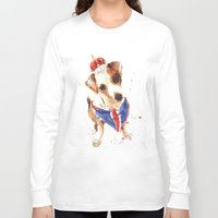 jack russell Long Sleeve T-shirts featuring LONDON - Jack Russell Art - Union Jack by eastwitching
