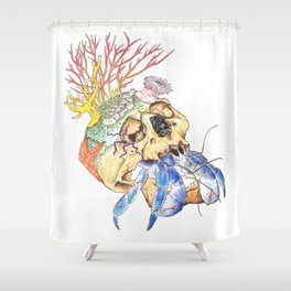 Home I: Hermit Crab Shower Curtain
