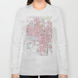 Vintage Map of Stockton California (1968) Long Sleeve T-shirt