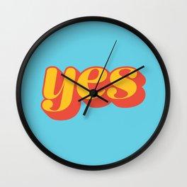 Affirmative Wall Clock