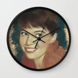 Leslie Caron, Movie Legend Wall Clock