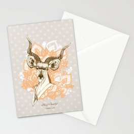 Hey! Beauty! - Greater Kudu - yellow Stationery Cards