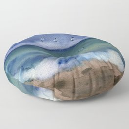 Thunderstorm at sea Floor Pillow