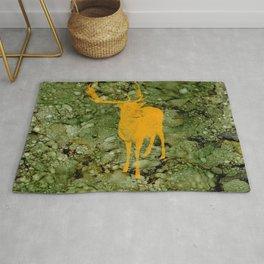 Deer on Green Camo Rug