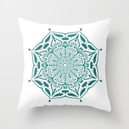 King's rest Mandala Throw Pillow