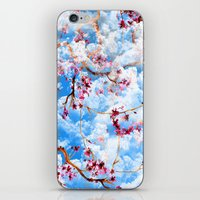 sakura iPhone & iPod Skins featuring SAKURA by sametsevincer