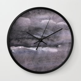 Gray nebulous wash drawing painting Wall Clock