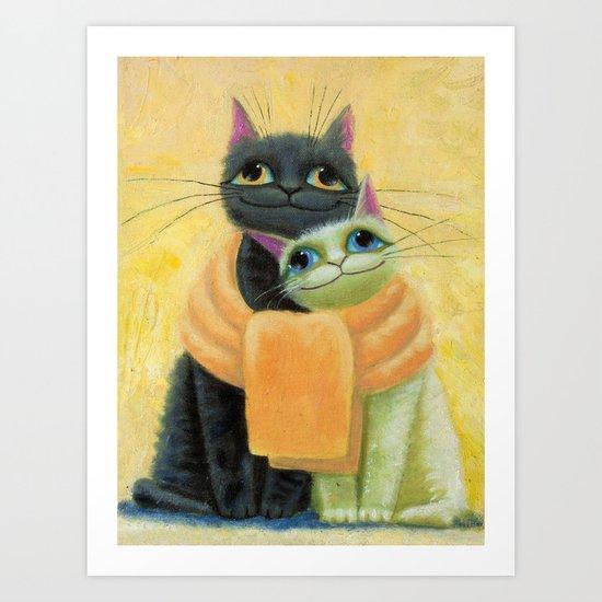 cat play Art Print