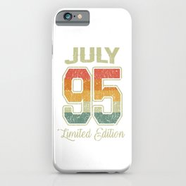 Vintage 25th Birthday July 1995 Sports Gift iPhone Case