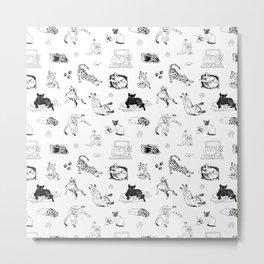 Cat Things Metal Print