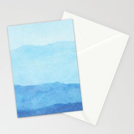 Ombre Waves in Blue Stationery Cards