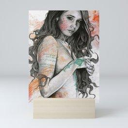 You Lied (nude girl with mandala tattoos) Mini Art Print