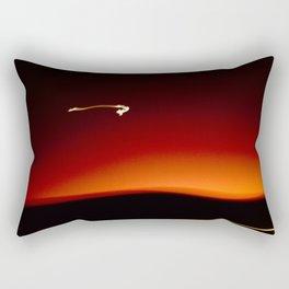 Night Lights Moon and Car Rectangular Pillow