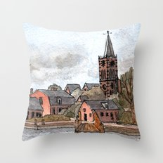 Aalsmeer by the River Throw Pillow