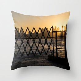 Staten Island Ferry: Sunrise Throw Pillow