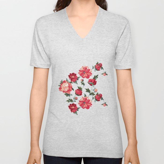 Spring Florals Unisex V-Neck