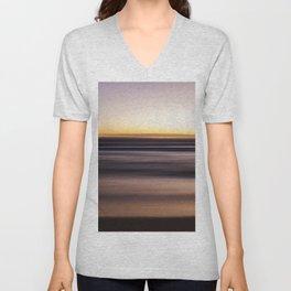 Sunset Pastel Color Ombre Fine Art Motion Waves Ocean Beach Seascape Landscape Lustre Framed Print Unisex V-Neck