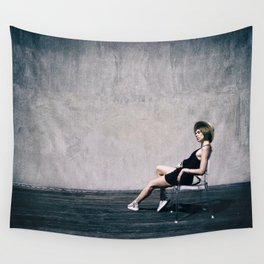 top model with hat Wall Tapestry