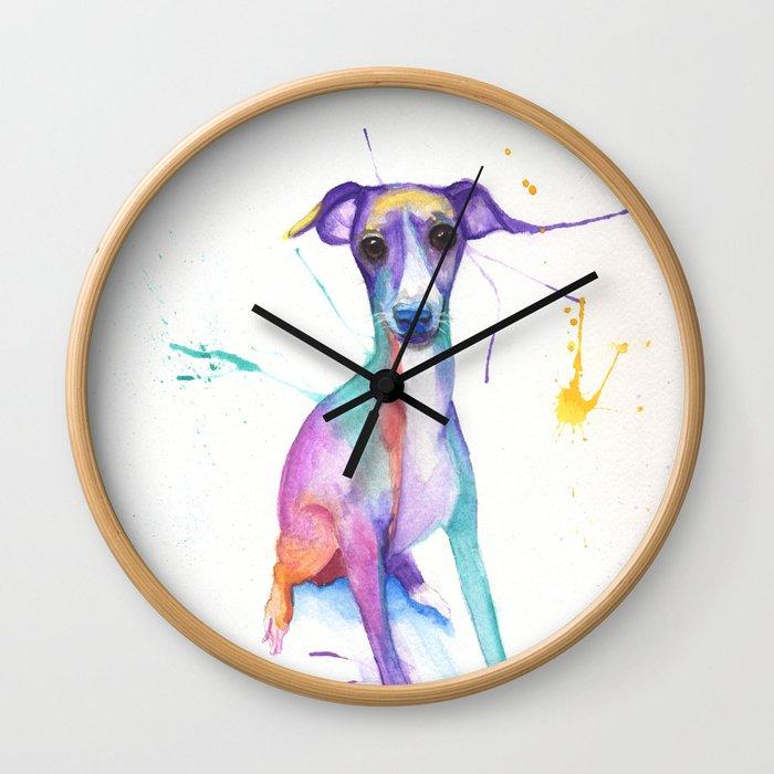 June (The Italian Greyhound) Wall Clock