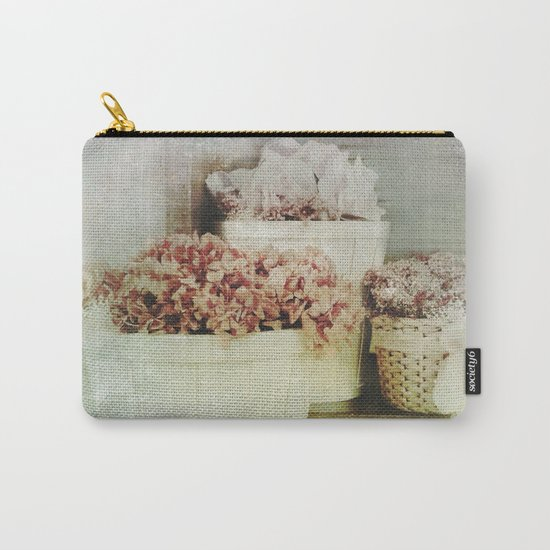 Vintage Street Flowers Carry-All Pouch