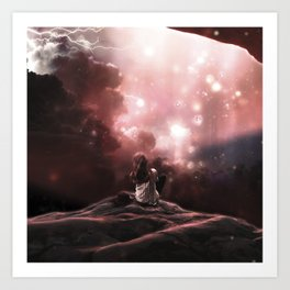 Waiting for a miracle Art Print