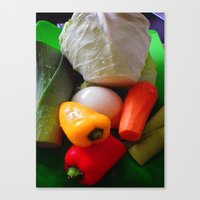 vegetables Canvas Prints featuring Vegetables by LoRo  Art & Pictures