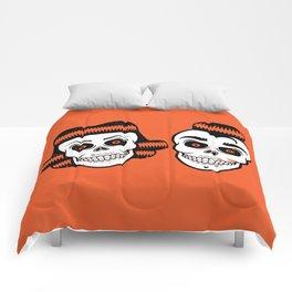 Spooky Rockabilly Skulls Comforters