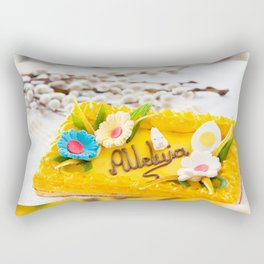 yellow decorative Easter cake Rectangular Pillow
