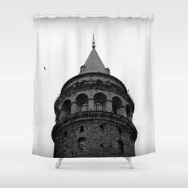 Galata Tower Shower Curtain
