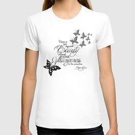 'Strange Skullerflies' -  Quotes - Edgar Allan Poe T-shirt