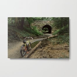 Exploring/ Under the Bridge Metal Print