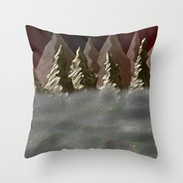 Into the Mist Throw Pillow