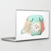 telephone Laptop & iPad Skins featuring Telephone by Paint Your Idea