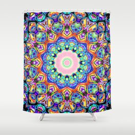 Abstract Spectral Pattern Shower Curtain