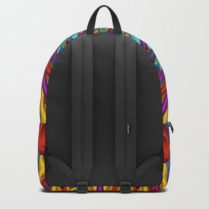 Amazing colors 3D mandala Backpack