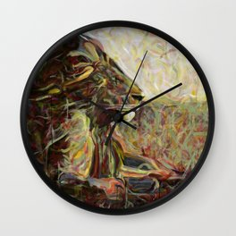 Fire, Wind and Spirit Wall Clock