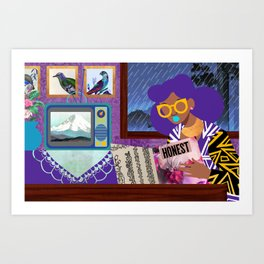 Rainy Day Reading Art Print