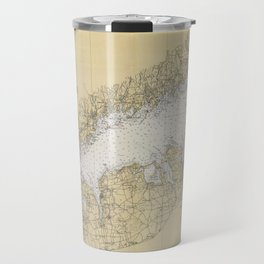 Vintage Map of The Long Island Sound (1934) Travel Mug