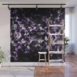 Triangle Geometric Purple Smoky Galaxy Wall Mural
