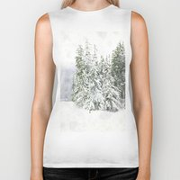 snowboarding Biker Tanks featuring Winter Fresh by Pure Nature Photos