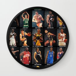 Basketball Legends Wall Clock