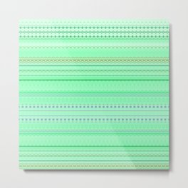 Mint Green Abstract XII Metal Print
